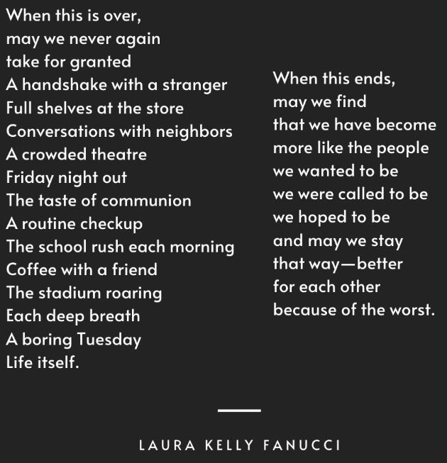 Covid poem Fanucci